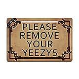 Ruiyida Mats Please Remove Your Yeezys Doormat Entrance Floor Mat Funny Doormat Door Mat Decorative Indoor Outdoor Doormat Non-woven 23.6 By 15.7 Inch Machine Washable Fabric Top