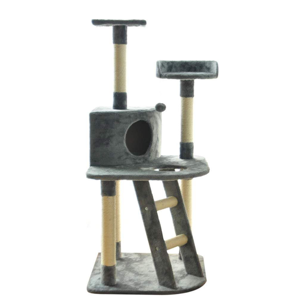 Cat Tree Multi-Level Cat Tower Condo,Cat Climbing Tower,Furniture with Ladder Perches Play House Activity Centre for Kittens