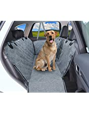 Dog Car Seat Cover, 100% Waterproof Premium Dog Car Hammock with Visible Mesh Window, Nonslip Backing, Durable Dog Seat Cover for Car, SUV, Truck with Dog Seat Belt