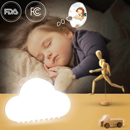 LED Night Lights for Kids Baby Nursery Infant Toddlers Nightlights Touch Sensor Portable Automatic Decorative Wall for Child Bedroom USB Charger White Yellow (white)