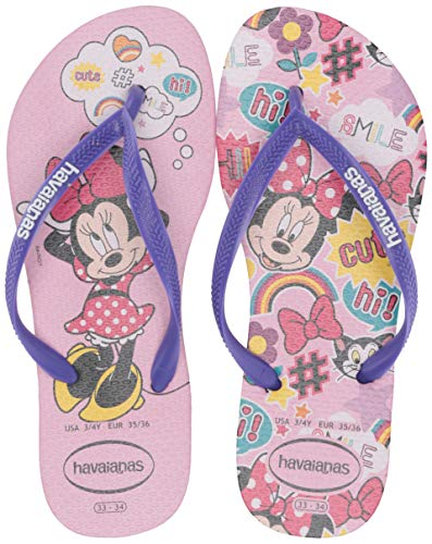 Havaianas Kid's Slim Disney Cool Flip Flop Sandal, Rose Quartz, 2 M US Little Kid