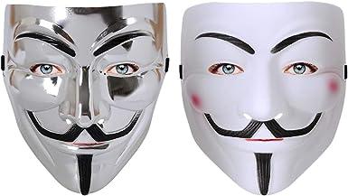 Lcymom 2 máscaras V para Vendetta para Disfraz de Halloween ...