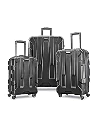 Samsonite Centric 3pc Hardside (20/24/28) Luggage Set, Black