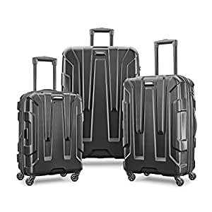 Samsonite Centric Expandable Hardside Luggage Set with Spinner Wheels, 20/24/28 Inch, Black