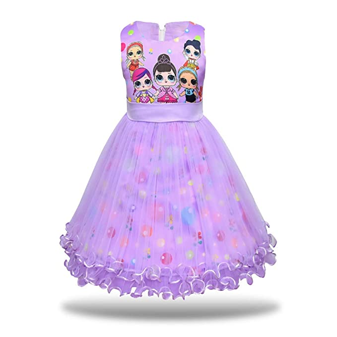 Amazon.com: MagJazzy vestido de princesa tutú con estampado ...