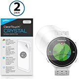 BoxWave Garmin Approach S6 ClearTouch Crystal (2-Pack) Screen Protector - Ultra Crystal Film Skin to Shield Against Scratches for Garmin Approach S6