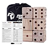 Giant Dice Game Set for Adults, Kids, Families - Outdoor Wooden Dice Games Sets - Fun, Interactive Clean Family Games - Clean, Interactive Activities for Outside, Lawn, Bars, Backyards