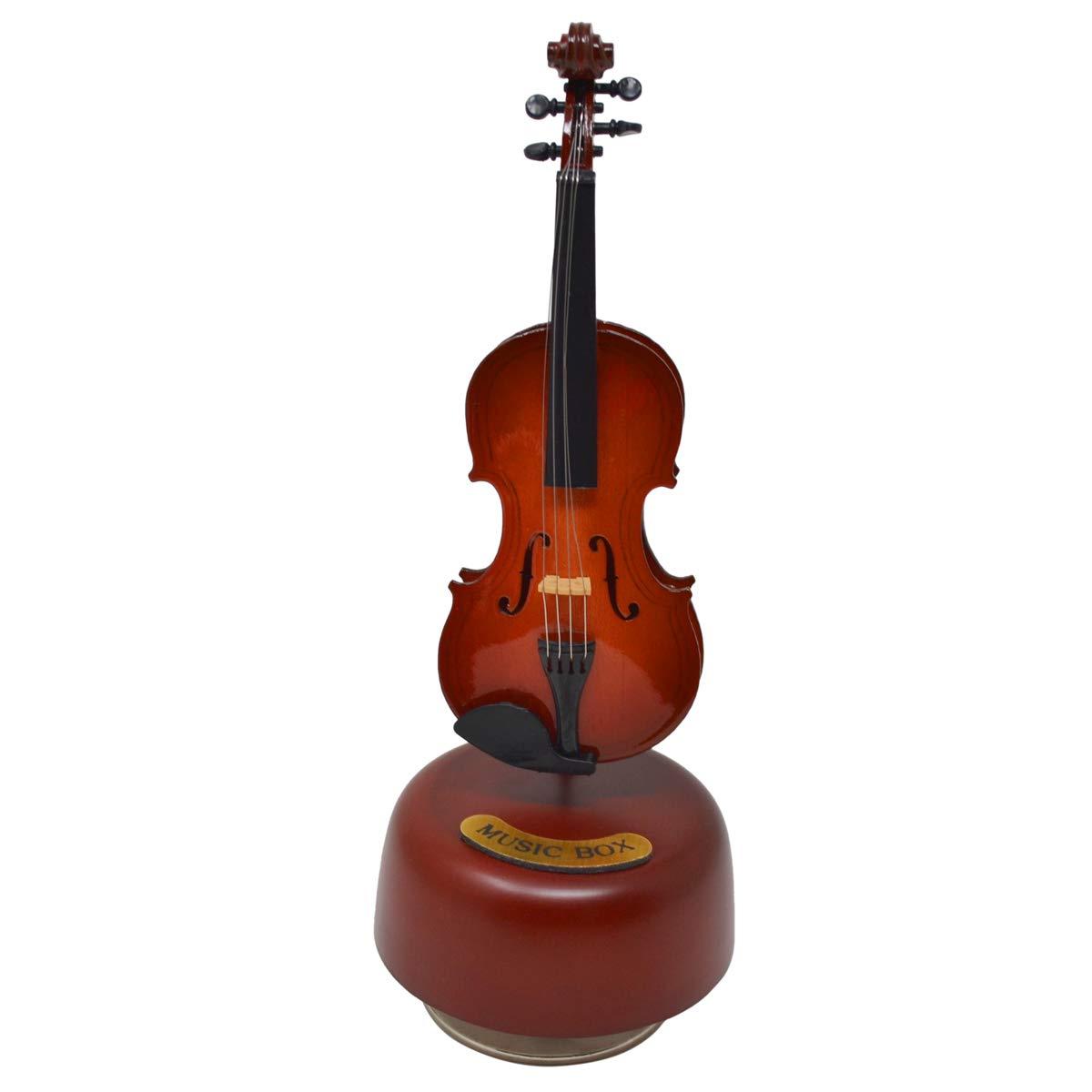 【税込?送料無料】 ミニバイオリンギターハープ回転オルゴール Box 木製楽器モデル クリエイティブアートウェア レッド ホームデコレーション レッド B07JQMM7CW B07JQMM7CW Violin Music Box, ユウトウチョウ:b193f362 --- arcego.dominiotemporario.com