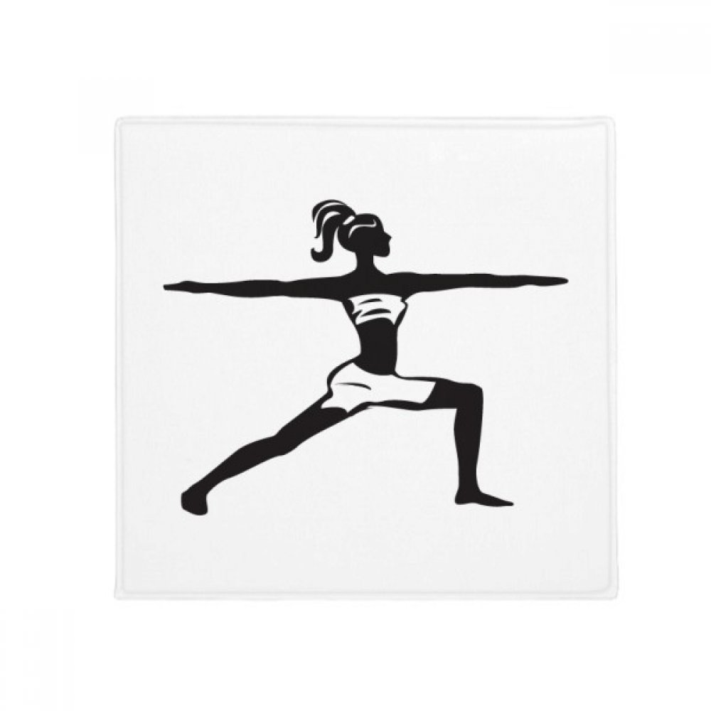 DIYthinker Yoga Girl Keep Healthy Sports Silhouette Anti-Slip Floor Pet Mat Square Home Kitchen Door 80Cm Gift