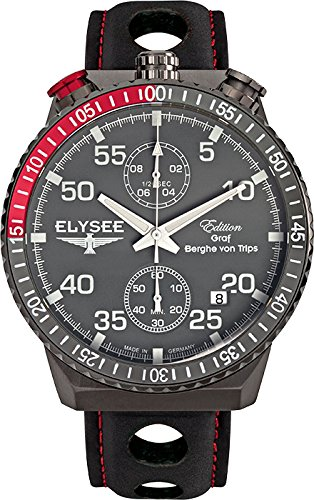 ELYSEE Men's 80517MM Graf Berghe von Trips Analog Display Quartz Black Watch