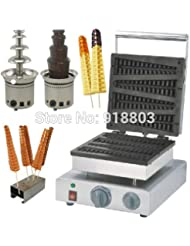 3 In 1 110v 220v Electric 4pcs Chocolate Lolly Waffle Maker Electric Chocolate Fountain Waffle Holder