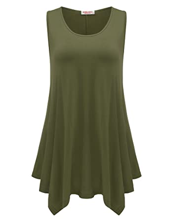 7cd4ea3c2b8 BELAROI Womens Plus Size Sleeveless Comfy Tunic Tank Top at Amazon ...