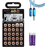 Teenage Engineering PO-16 Factory Pocket Operator Melody Synthesizer –INCLUDES– Blucoil Audio Premium Headphone 3.5mm Extension Cable (6-Feet/1.82 Meters) AND 2-Pack of AAA Batteries