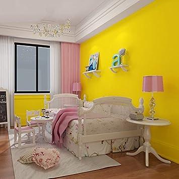 Yosot Modernes Minimalistisches Streifen Schlafzimmer Wohnzimmer Tv Hintergrund Tapete 3D-Warmen Vliestapeten Gelb