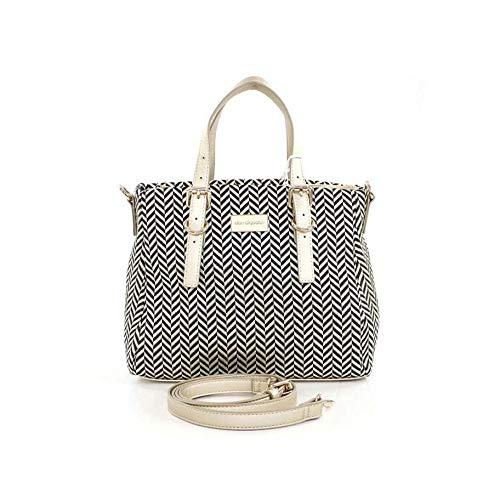 DON ALGODÓN Natural, Bolso con correa de mano para Mujer, Oro, 29x22x14 cm: Amazon.es: Zapatos y complementos