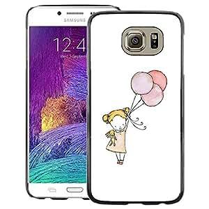 Red-Dwarf Colour Printing Little Girl Balloon Art White Mother Mom - cáscara Funda Case Caso de plástico para Samsung Galaxy S6 SM-G920