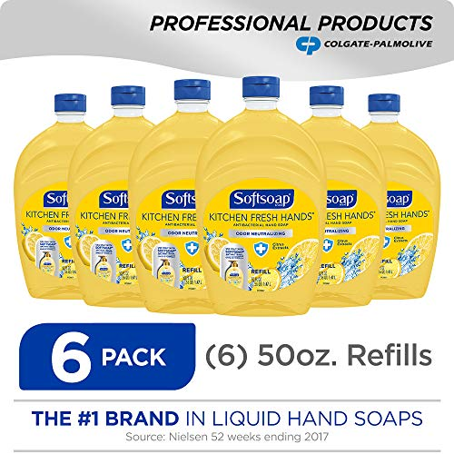 (SOFTSOAP Antibacterial Liquid Hand Soap Refill, Kitchen Fresh Hands, 50 Ounce Bottle, Bathroom Soap, Bulk Soap, Moisturizing Antibacterial Hand)