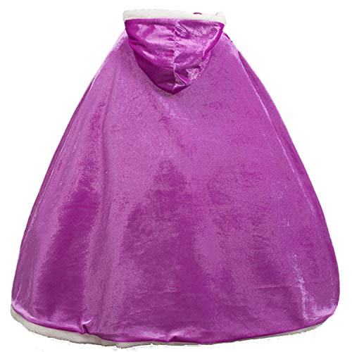 iTvTi Princess Cloak with Hood Girls Cape Kid Toddler Costume Dress up for Halloween Christmas Carnival Cospaly