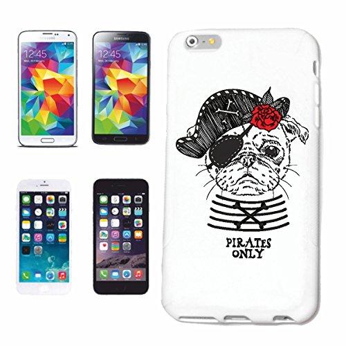 """cas de téléphone iPhone 7 """"ENGLISH BULLDOG DEGUISE AS PIRATE AVEC PATCH DES YEUX ET DE CHAPEAU ANGLAIS BULLDOG FRANÇAIS BULLDOG CHIOTS BULLDOGS"""" Hard Case Cover Téléphone Covers Smart Cover pour Apple"""