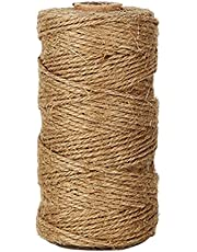 Shintop 300 FeetNatural Jute Twine Best Industrial Packing Materials Heavy Duty Natural Jute Twine for Arts and Crafts and Gardening Applications (300 Feet Twine)