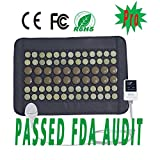 """UTK Far Infrared Natural Jade&Tourmaline Heating Pad Mat for Pain Relief, Small Pro (23.5""""X16"""") with Smart Controller, Memory Function, Auto Shut Off Timing Setting [US FDA] Travel Bag Included"""