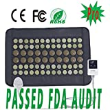 """UTK® Far Infrared Natural Jade&Tourmaline Heating Pad Mat for Pain Relief, Small Pro (23.5""""X16"""") With Smart Controller, Memory Function, Auto Shut Off Timing Setting [US FDA] Travel Bag Included"""