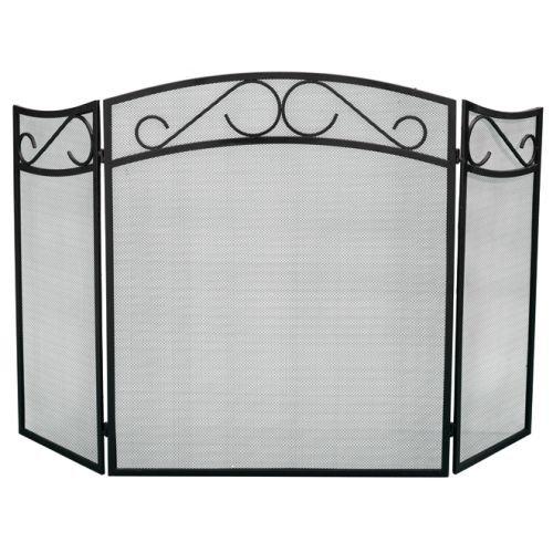 3 Fold Fire Screen Guard Fireguard Metal Panel for Fireplace Bakaware
