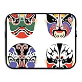 Too Suffering Protective Case Waterproof Computer Portable Bags Traditional Chinese Cultural Opera Mask Laptop Bag 13inch And 15inch