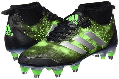 ADIDAS kakari force SG mid rugby boots [black/green]