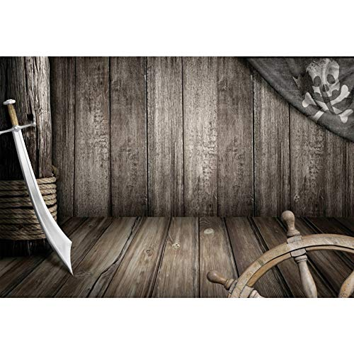 Hardwood Broadsword - CSFOTO 6x4ft Pirate Wood Cabin Backdrop for Newborn Photography Wooden Board Wood Floor Background for Birthday Party Theme Party Background Broadsword Newborn Baby Portrait Wallpaper