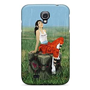 Excellent Design Chell In The Rain Case Cover For Galaxy S4