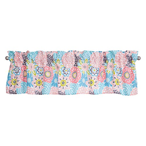 Bloom Window Windows (Waverly Blooms by Trend Lab Window Valance, Covering, Pink)