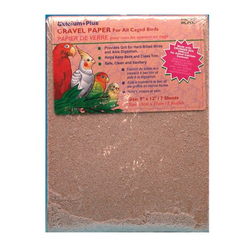 Penn Plax Gravel Paper for Bird Cage, 9 by (Bird Liner)