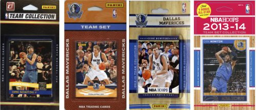 NBA Dallas Mavericks 4 Different Licensed Trading Card Team Sets by C&I Collectables