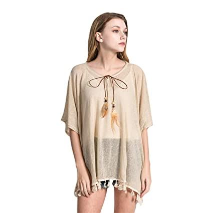 9cb272a9d1c5e Amazon.com: C&L-DaySeventh Beachwear Dress, Women Swimsuit Cover Up ...