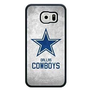 Samsung Galaxy S6 Case, Customized NFL Dallas Cowboys Logo Black Soft Rubber TPU Samsung Galaxy S6 Case, Dallas Cowboys Logo Galaxy S6 Case(Not Fit for Galaxy S6 Edge)