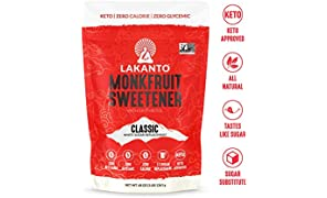 Lakanto Monkfruit 1: 1 Sugar Substitute | 3 Ib NON GMO (Classic White)