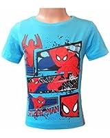 Spiderman Marvel Kinder Kurzärmeliges T-Shirt Blau