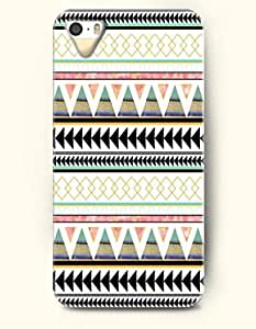 OOFIT Aztec Indian Chevron Zigzag Pattern Hard Case for Apple iPhone 4 4S ( Classic And Stylish Aztec Tribe Pattern )