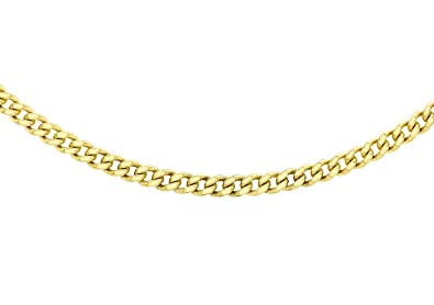 Carissima Gold Unisex 9 ct Yellow Gold Trace Chain of Length 46 cm fmmFT