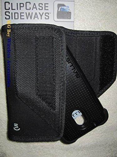 Nite Ize Black Extended Sideways Ballistic Horizontal Rugged Heavy Duty X-large Holster Pouch/ Cover Case Fits Motorola Play G4 Black ballistic TJ Tough Jacket/Maxx On Cellphone ()