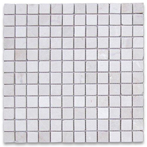 - Crema Marfil Spanish Marble Square Mosaic Tile 1 x 1 Tumbled