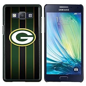 /Skull Market/ - Green Bay Packer Hockey For Samsung Galaxy A5 A5000 A5009 - Mano cubierta de la caja pintada de encargo de lujo -
