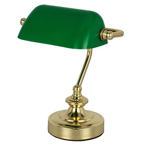 Retro mesa Lectura lámpara Banker lámpara de habitaciones de ...