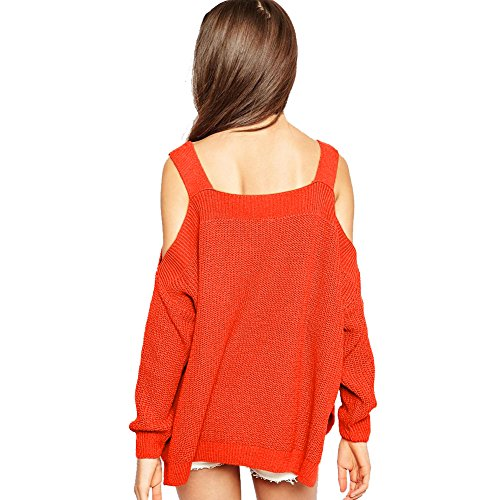 Plain Pull Tricoter Tunique Irr Pulls Eleery Blouse Manches over Femmes Longues UY0gR5qw
