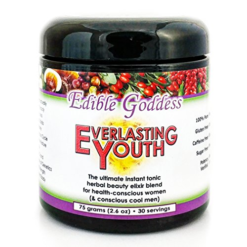 Everlasting Youth, Ultimate Instant Tonic Herbal Beauty & Vitality Elixir Blend for Health Conscious Women, 15 servings, 75g (Lustre Hair Skin Nail)