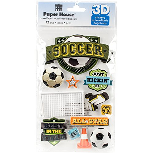 PAPER HOUSE 3D Stickers-Soccer Champ