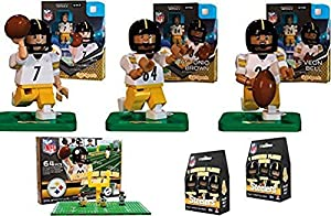 oyo sports nfl bundle pack pittsburgh steelers set 1 ben roethlisberger le. Black Bedroom Furniture Sets. Home Design Ideas