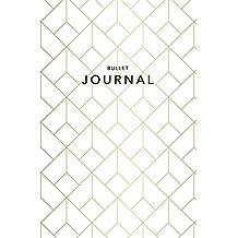 Bullet Journal: Art Deco Gold Dot Grid Journal   6x9 Dotted Grid Notebook