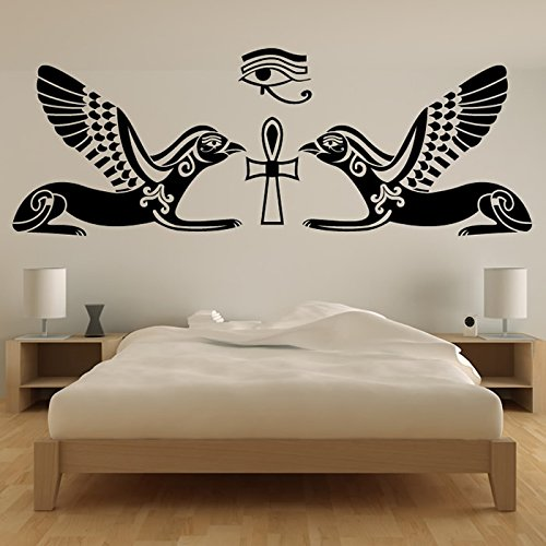 Horus Hieroglyph Egyptian Rest of the World Wall Stickers Home Decor Art Decals available in 5 Sizes and 25 colors Large Black